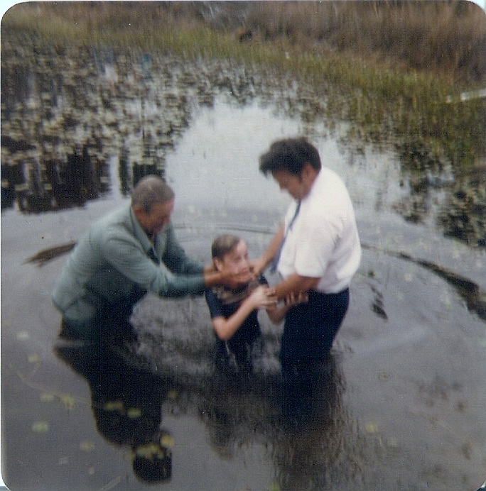 Dad's First Baptism (an assist)  It was ME